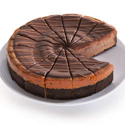 "9"" Chocolate Cabernet Truffle Cheesecake"