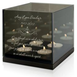 Personalized Christmas Memorial Remembrance Candle Holder