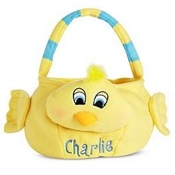 Chick Personalized Plush Easter Basket