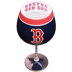 Boston Red Sox Artisan Hand Painted Wine Glass