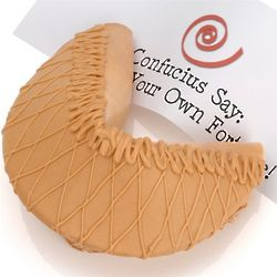Peanut Butter Giant Fortune Cookie