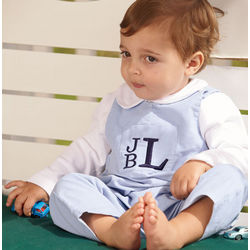 Boy's Personalized Corduroy Overalls