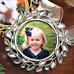 Bejeweled Photo Ornament