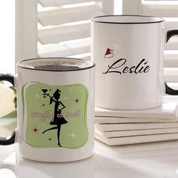 Naughty or Nice Personalized Christmas Mug