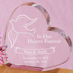 Engraved In Our Hearts Forever Heart Plaque