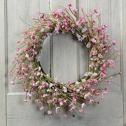 Polyester Cherry Blossom Wreath