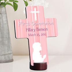Personalized Hear My Prayer First Communion Cross