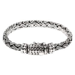 Men's Friendship Sterling Silver Braided Bracelet