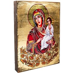 Madonna and Child Wood Wall Plaque