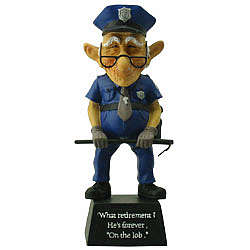 Old Coot Policeman Figurine Retirement Gift