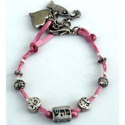 Pink Kabbalah Charms Bracelet