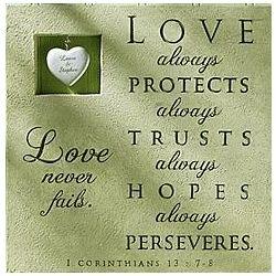 Personalized Love Never Fails Plaque