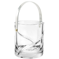 Butterfly Full Lead Crystal Ice Bucket