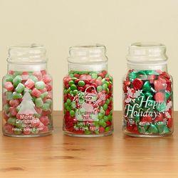 Personalized Christmas Treat Jar