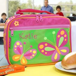 Butterfly Embroidered Lunch Box