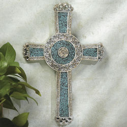 Mosaic Cross Wall Plaque