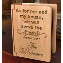 Personalized Serve the Lord Wooden Photo Album