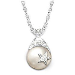 My Daughter, Shining Star Diamond and Cultured Pearl Necklace