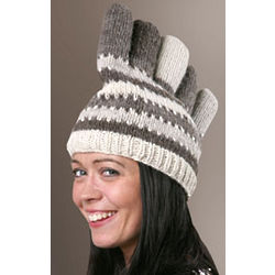 Wool Five-Fingered Glove Hat