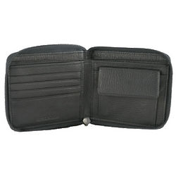 Cashmere Zippered Wallet and Coin Pocket