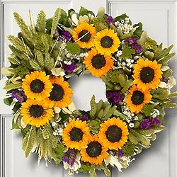 Sunflower Valley Floral Wreath