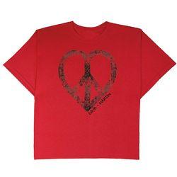 Men's Medium Personalized Peace Heart T-Shirt