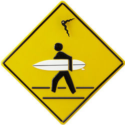 Surfer Xing Clock