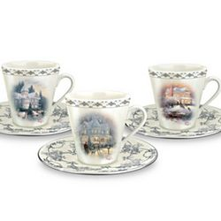 Winter Elegance Teacup and Saucer Set