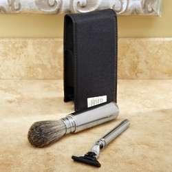 Personalized Travel Badger Brush Shaving Kit