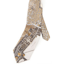 Chicago Map Silk Tie