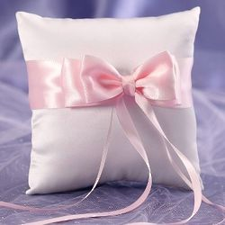 Colorful Bow Ring Bearer Pillow