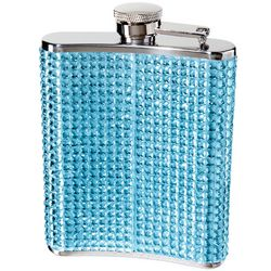 Blue Sparkle Hip Flask with Funnel