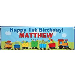 Personalized Oversized Train Birthday Banner