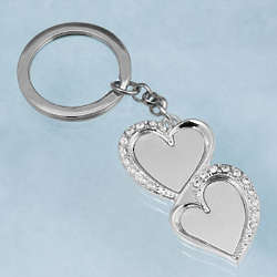 Bling Hearts Key Chain