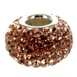 Champagne Crystal Charm Bead