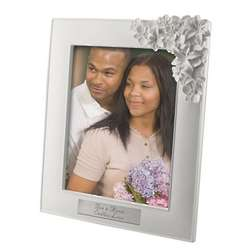 Personalized White Orchid Picture Frame