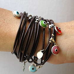 Multi Evil Eye Charm Bracelet