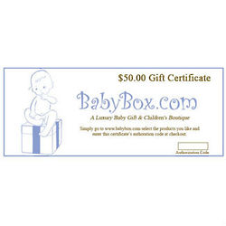 BabyBox.com Gift Certificate - $50.00