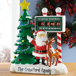 Personalized Digital Rudolph Christmas Countdown Figurine