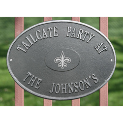 New Orleans Saints Personalized Pewter and Silver Plaque
