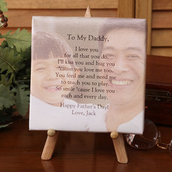Personalized Photo Tabletop Canvas Art for Him