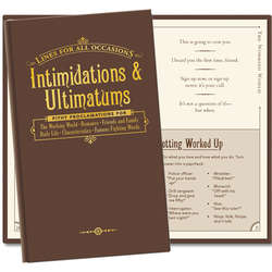 Intimidations & Ultimatums for All Occassions Book