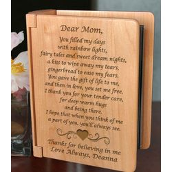 Personalized Mom Poem Wooden Photo Album