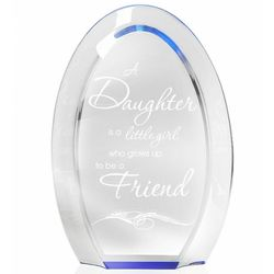 A Daughter and A Friend Blue Halo Plaque