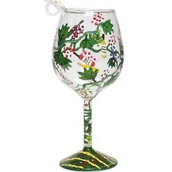 Wine Tasting Mini Wine Glass Ornament