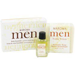 Men's Tonka Vet Aromatic Soap and Fragrance Oil Gift Set