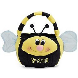 Bee Personalized Plush Easter Basket