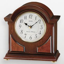 Wood and Brass Carriage Clock