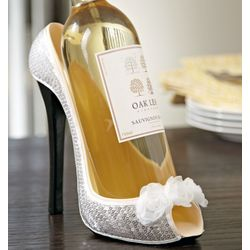 White Roses Shoe Wine Bottle Holder