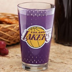 Los Angeles Lakers Purple Jersey Drinking Glass